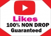 Add High Quality Non Drop 100+YOUTUBE video likes