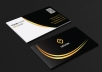 do professional luxury modern creative unique business card design