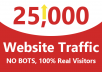 give 25,000 organic website traffic real