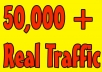 Give you 50,000 Guaranteed USA Visitors to your site with proofs