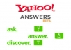 answer unlimited questions until I get 5 Best Answers in yahoo answers