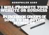 Promote your website or business in facebook group of 500k active members