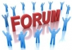 20 forum posts on any topic for
