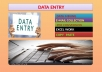 do data entry and email collection for you