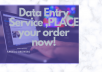 do data entry for your bussines