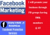 Promote your business,websites and products through Facebook groups having active 700k members