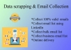 do data scrapping and collect targeted email list