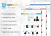 create onlinestore using prestashop, openchart, magento, drupal