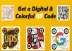 create a beautiful and colorful qr code