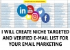 provide Niche targeted email list collection for email marketing