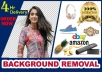 do product and images background removal and fast delivery