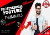 design stunning youtube thumbnail in 24 hours