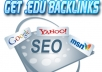 give you 50 powerful high PR edu backlinks to boost your website rank