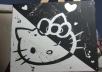 create a black & white hello kitty