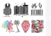 design barcode and qr code