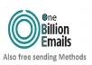 give you 950 million plus database email marketing list + bonus databases