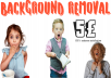 Provide 30 clean, optimized  and perfect image background removal