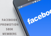 Promote your business or website or product through 600k Facebook members