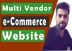 create wordpress ecommerce Multi Vendor website for you