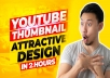 create 5 professional and eye-catching thumbnails for your channel.