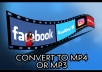 convert video from social networking sites to mp4/mp3