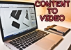 convert your blog or content to video