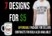 do custom tshirt, mug, and tote designs in under 12 hours for you