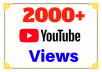give 1000 guaranteed real view Youtube