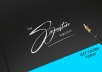 Design signature logo for your business