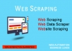 do web scraping, data extracting, data mining, data scrape