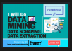 do data mining,data scraping and data collection