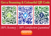 I create  Professionally world class  and high quality QR Codes. I can create QR-code in Black & White , Single color, Dual color or multiple colorswith a different type of alignments and design.   Regular text Hyperlink (URL) Text Phone Vcard Logo E-mail Text SMS location Twitter Link Facebook Link Youtube Link Event.  I make quick and efficient work as per client's need. I will provide to your work 100% well and successful. I Promise 100% Accuracy &  100% Satisfaction Guaranteed  Image file format PDF l PNG l SVG l EPS
