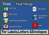 do mail merge for letter, envelopes, and label from ms excel