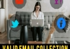 Collect 1000 targeted Email