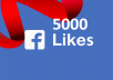 Get 5000 real facebook page or post likes within two weeks for just $5