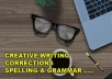 write creative articles,blogs, proof read and edit your writing.