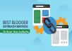 build high DA contextual SEO backlinks through blogger outreach service