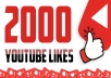 provide 2,000 YouTube likes for your video(s)