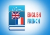 Hello, I am a french student that can translate any text or article or essay from english to french.