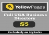 provide 1 Million USA business data with business email and phone number
