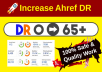 increase ahrefs DR 20 domain rating with authority backlinks
