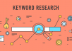 research seo targeted keywords for optimization of your website content