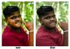 do retouching and background removing by PS