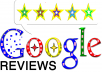 give 3 Google Five Star live Review in 12 hours