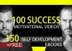 give you 100 motivational videos, tracks, ebooks for personal development