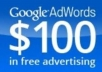 give 3x 100 USD fresh Google Adwords Vouchers