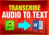 transcribe any English audio files