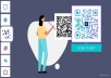 Create unique and well-customized QR codes.