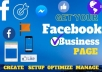 create, setup and optimize your facebook business page