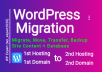 If your WordPress site is slow and you think, your site is slow because of your hosting provider. Or your website domain is banned or blacklisted by Google and your website is not showing in Google search results. So now you want to migrate your website from first hosting to a second hosting. But you don't know how to do that or you know but don't have much time to do WordPress migration. So you can order a freelancer having experience, and the freelancer will do that for you. I have five years of experience۔ I can do WordPress migration with the following services;      Migration from one host to a second hosting     Migration of one domain to another domain in the same hosting     Migrate your content + whole site.     Backup your site     Backup your database     Fix errors after migration     Fix redirect errors after migration   You can order me. I will do the WP migra